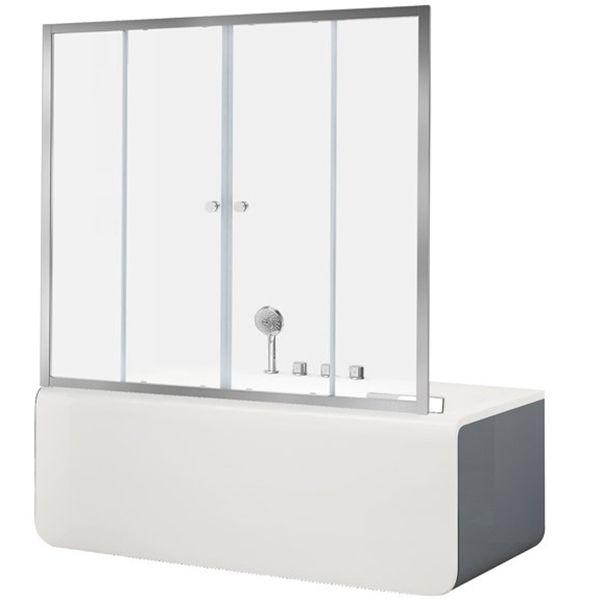 Шторка для ванны Aquanet Alfa 5 NAA6142 160, прозрачное стекло