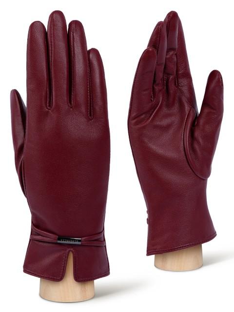 Бордовые женские перчатки ELEGANZZA