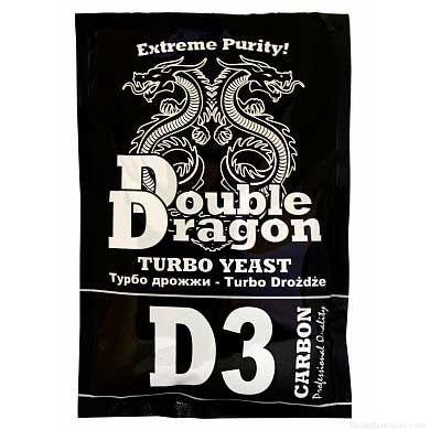 Спиртовые турбо дрожжи Double Dragon D3 Carbon, 123 гр