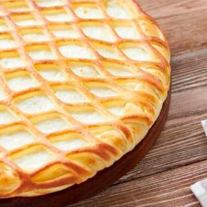 Сладкий пирог с творогом и персиком 1000г