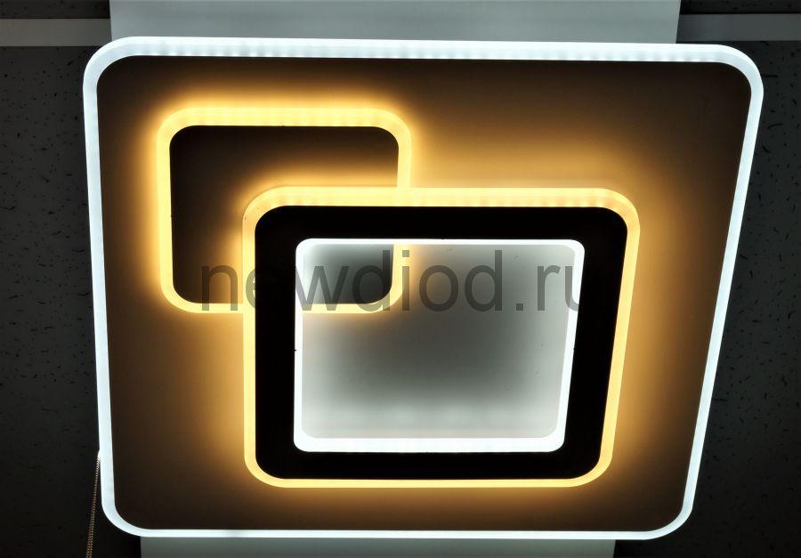 Управляемый светодиодный светильник GEOMETRIA 2202 160Вт 6/3/4000K пульт 480мм белый Oreol