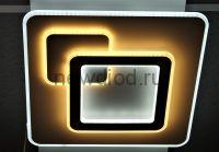 Управляемый светодиодный светильник GEOMETRIA 2202 160Вт-40м² 6/3/4000K пульт 480мм белый Oreol