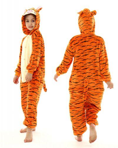 """Кигуруми для детей 6-9 лет """"Тигренок"""" оранжевый"""
