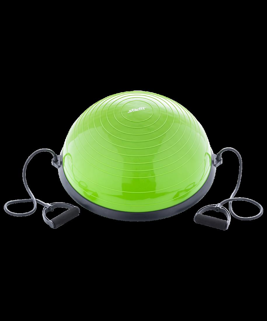 """Полусфера """"BOSU"""" GB-501 с эспандерами, с насосом, зеленый"""