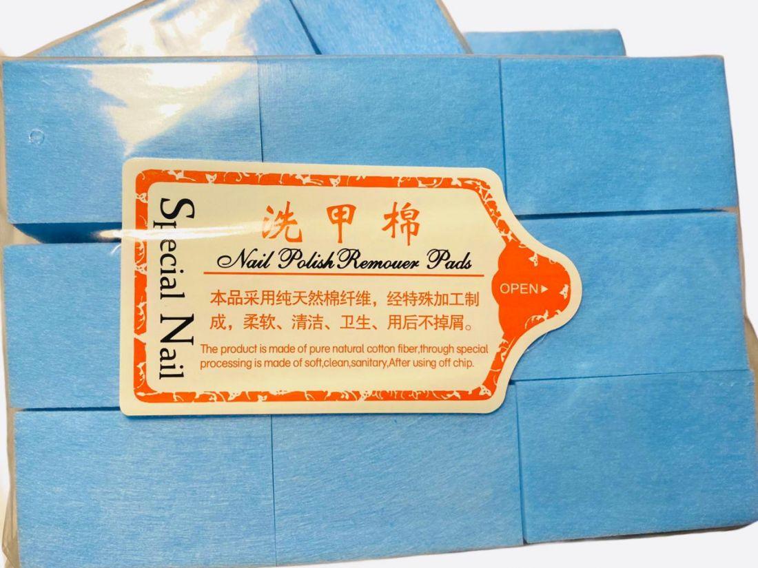 Cалфетки для снятия шеллака (упаковка 1000 шт.)  голубой цвет! плотные