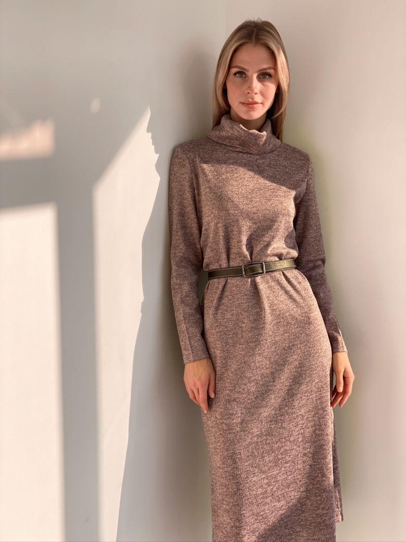 """s2923 Платье-свитер в цвете """"розовый меланж"""""""