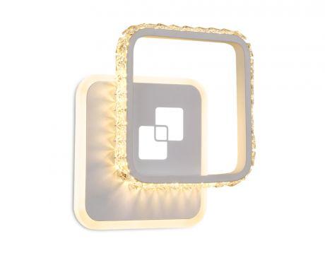 Бра. Настенный светодиодный светильник с хрусталем FA231 WH белый