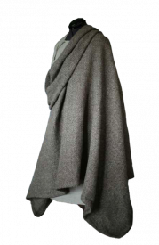 Скандинавский шерстяной плащ ручной работы. Серый цвет.