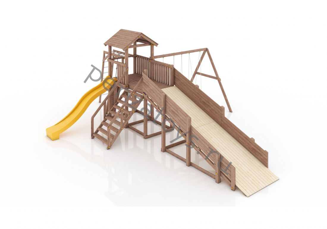 Игровая детская площадка с зимней горкой Альпы
