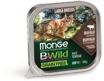 Monge Cat Bwild Grain free беззерновые консервы из буйвола с овощами для кошек крупных пород