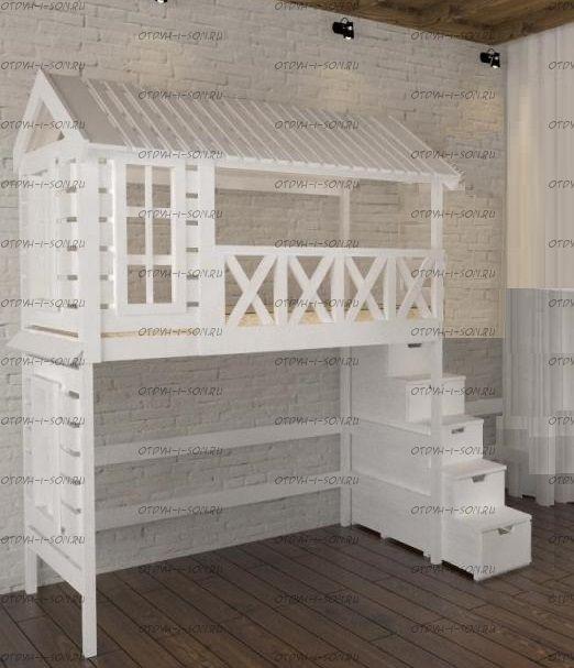 Кровать-чердак Домик Fairy Land Standard №1 (любые размеры)