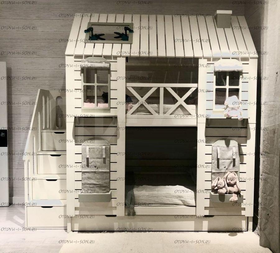 Двухъярусная кровать Домик Felicia №3С+