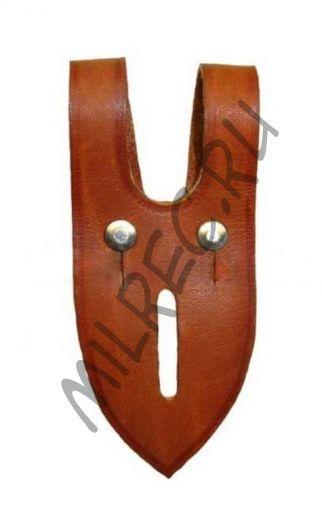 Фиксатор для бинокля (Anknopflasche fur Doppelfernrohr) (реплика)  коричневая кожа