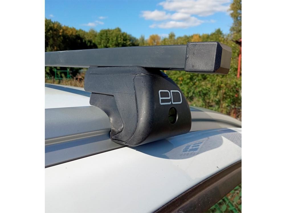 Багажник на интегрированные рейлинги Lada Xray Cross, Евродеталь, стальные прямоугольные дуги