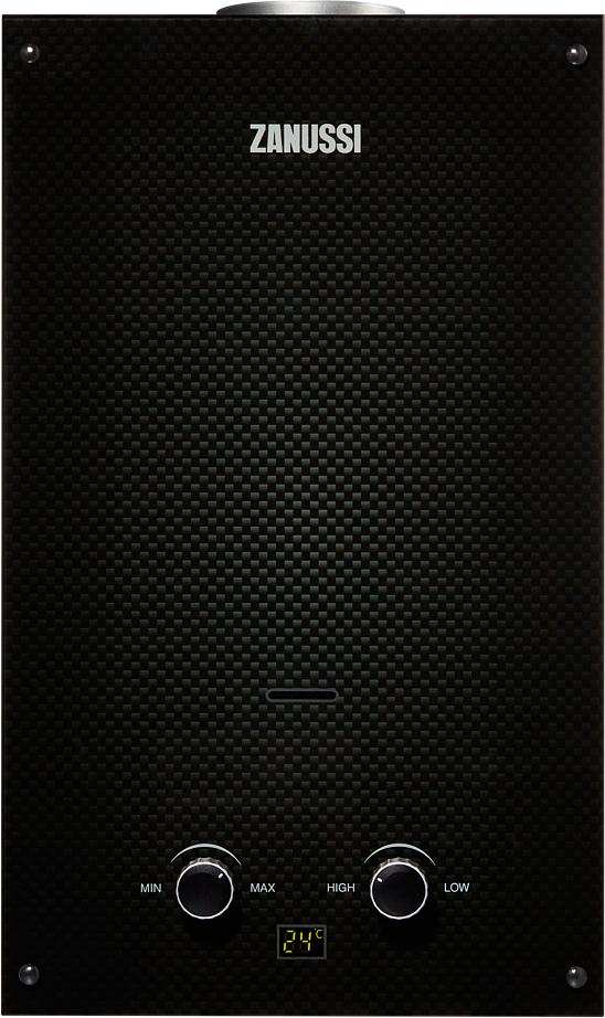 Проточный газовый водонагреватель Zanussi GWH 10 Fonte Glass Carbon (НС-1194436)