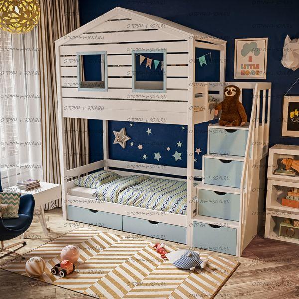 Кровать двухъярусная, Кровать-домик Roof