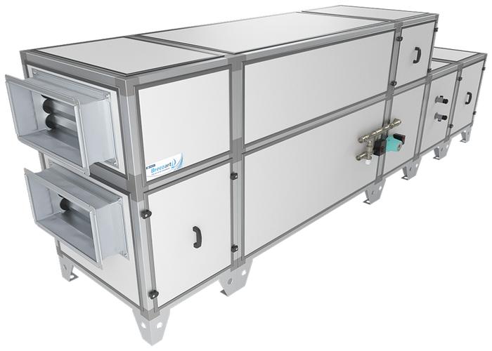 Приточно-вытяжная установка Breezart 3700 Aqua RP W PB