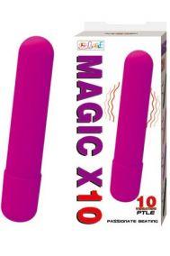 Вибропуля Baile Magic X10 фиолетовая, 9*2 см