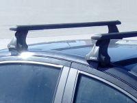 Багажник на крышу Chevrolet Lacetti, Атлант, крыловидные аэродуги (черный цвет)