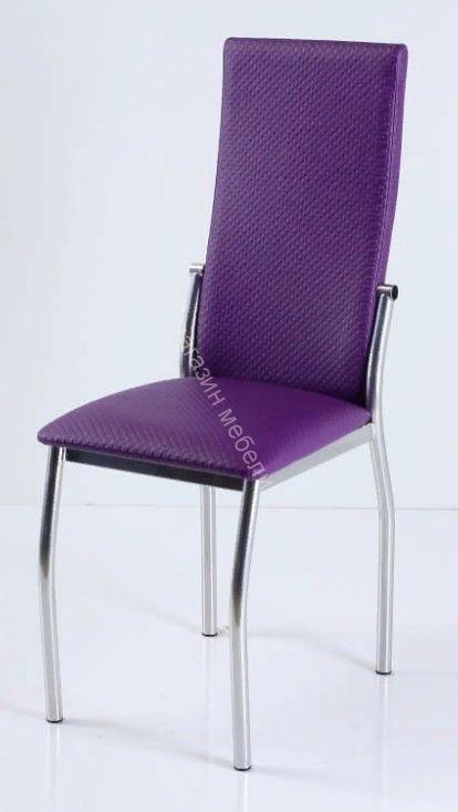 """Кухонный стул """"B-610"""" фиолетовый капитон/хром"""