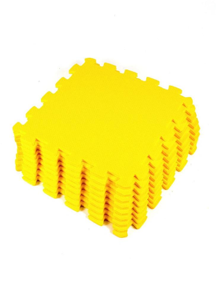 Мягкий пол универсальный Желтый 33*33 см, 9 дет.