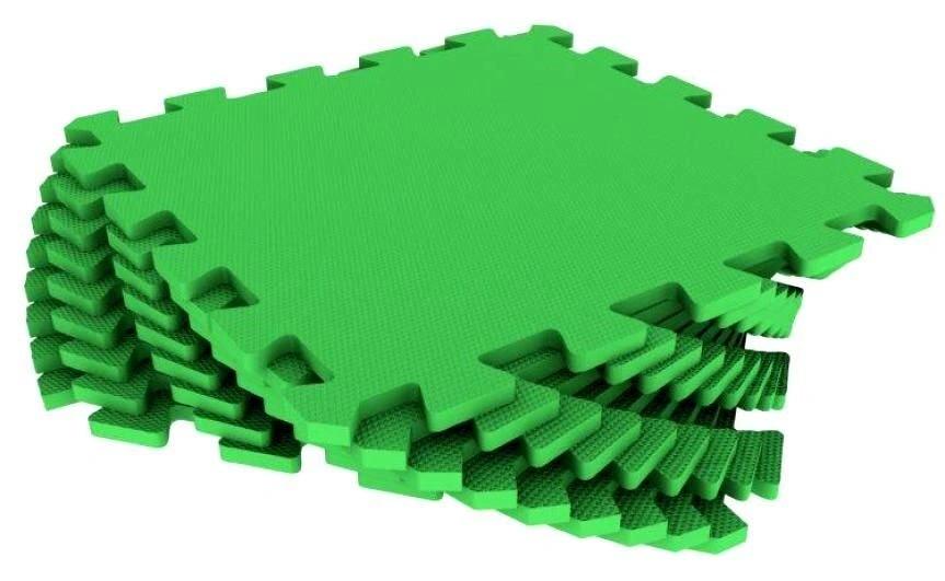 Мягкий пол универсальный Зелёный 33*33 см, 9 дет.