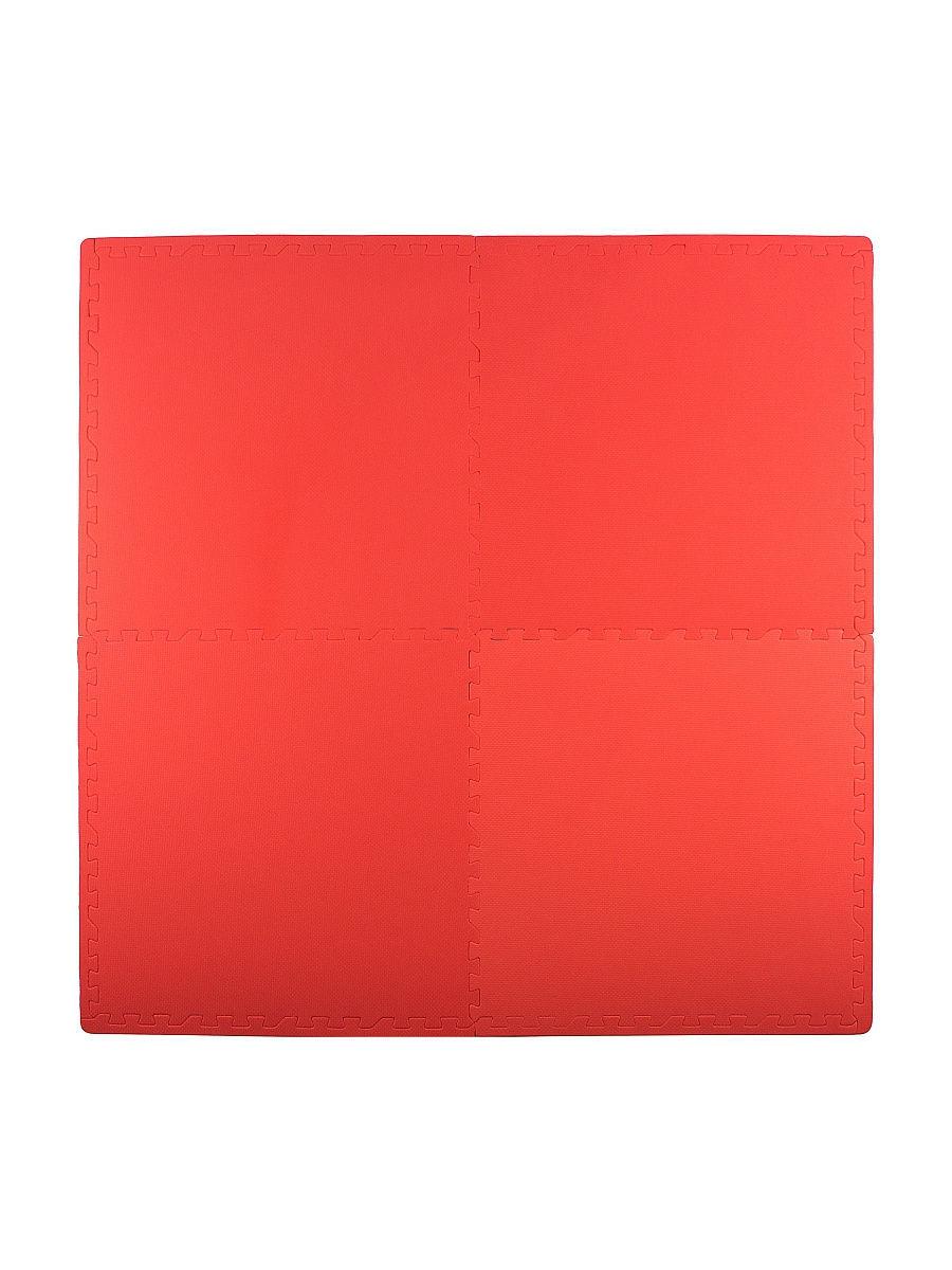Мягкий пол универсальный 60*60 см, 4 дет., красный