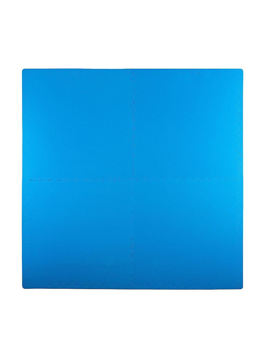 Мягкий пол универсальный 60*60 см, 4 дет., синий
