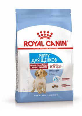 Royal Canin для щенков средних пород: 2-12 мес. (Medium Puppy)