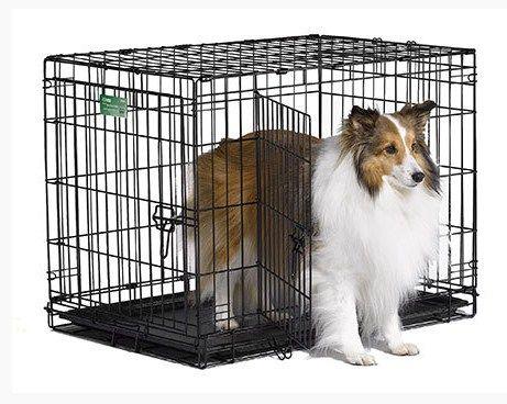 Клетка для собак кошек №3 76х51х59  2 двери пластик поддон (LiGHT)