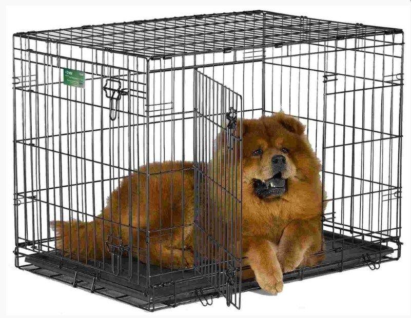 Клетка №4  91х58х66 2 двери пласт поддон для животных кошек собак щенков (LiGHT)