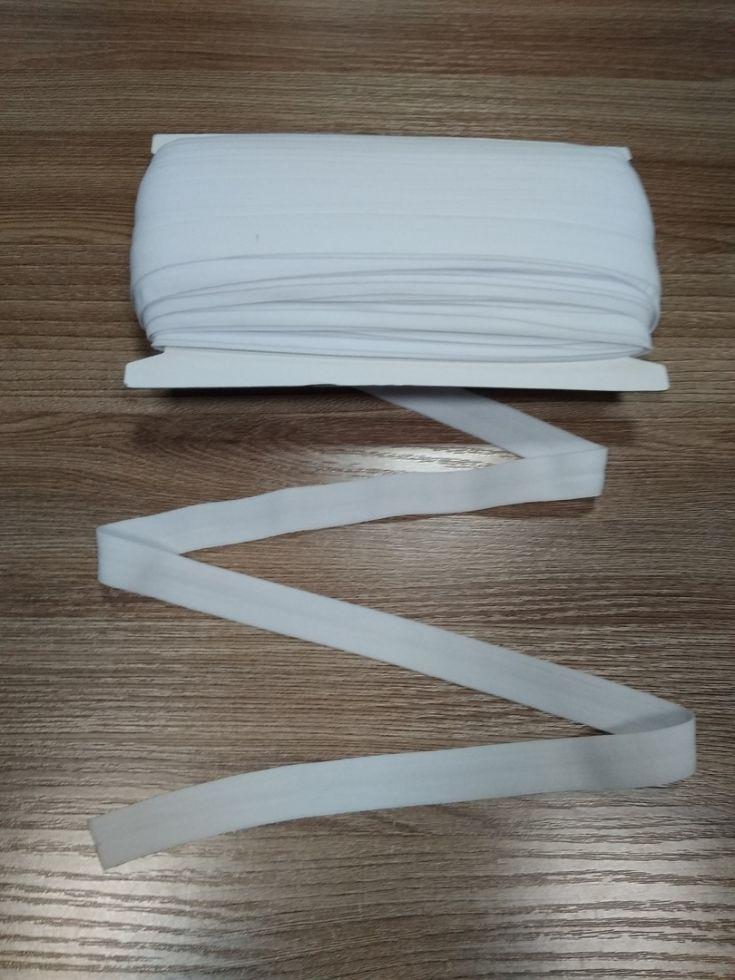 окантовочная резинка-бейка белая