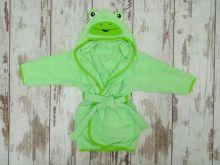 МАМИН МАЛЫШ - Халат махровый детский V-XA033(k)-MA цвет зеленый лягушка