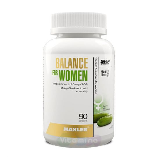 Maxler Balance for Women Комплекс витаминов для женщин, 90 капс