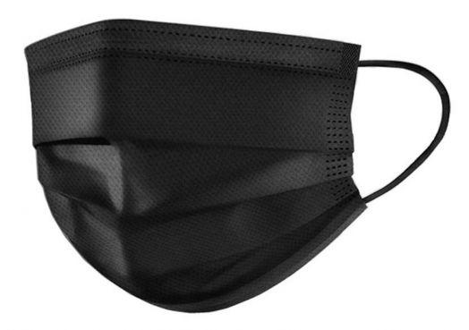 Маски на лицо (упаковка 50 шт) черные