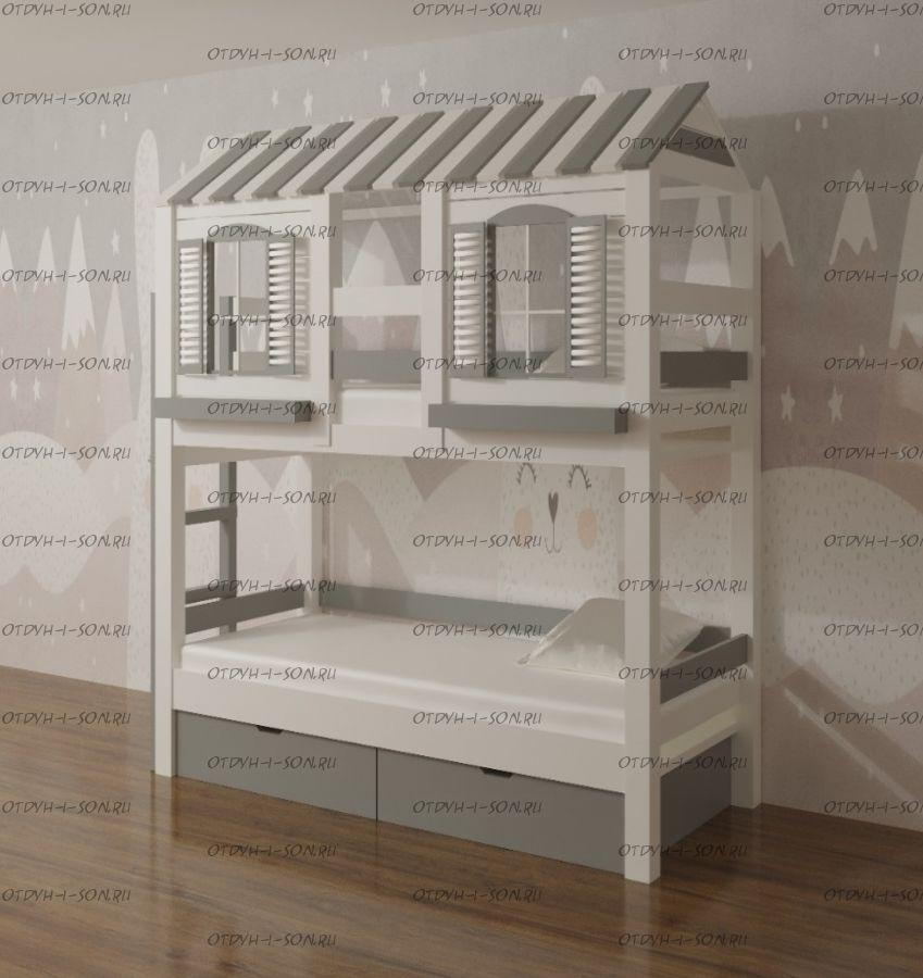 Двухъярусная кровать Домик Felicia №3H