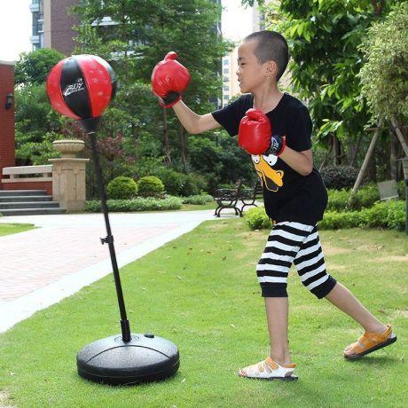 Груша боксерская Punching Ball Set с боксерскими перчатками (до 12 лет)