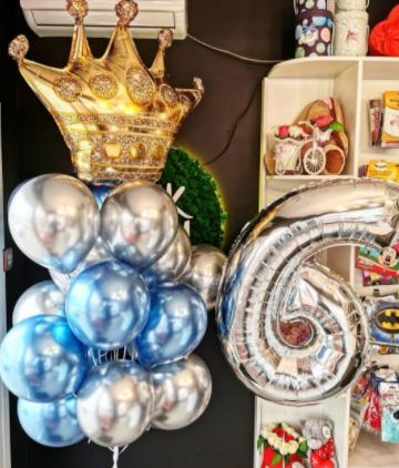Воздушные шары для девочек «Золотая Корона»