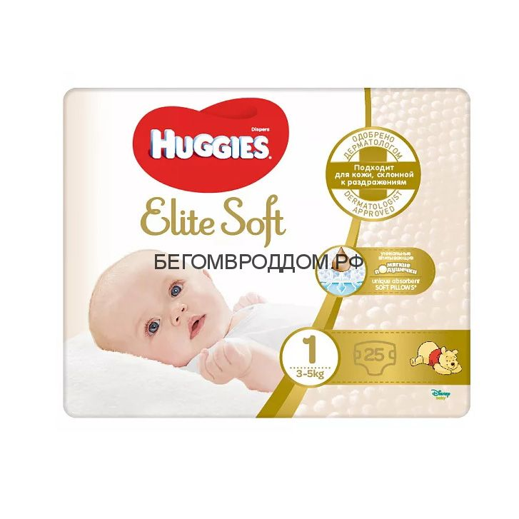 Подгузник Huggies Elite Soft 1 (3-5кг), 25 шт./Huggies