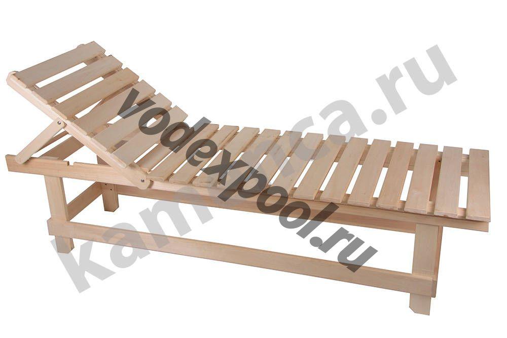 Лежак с регулируемой спинкой Липа, 1800мм*550мм*445мм