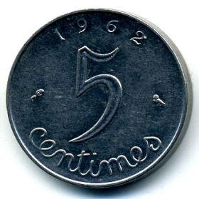 Франция 5 сантимов 1962