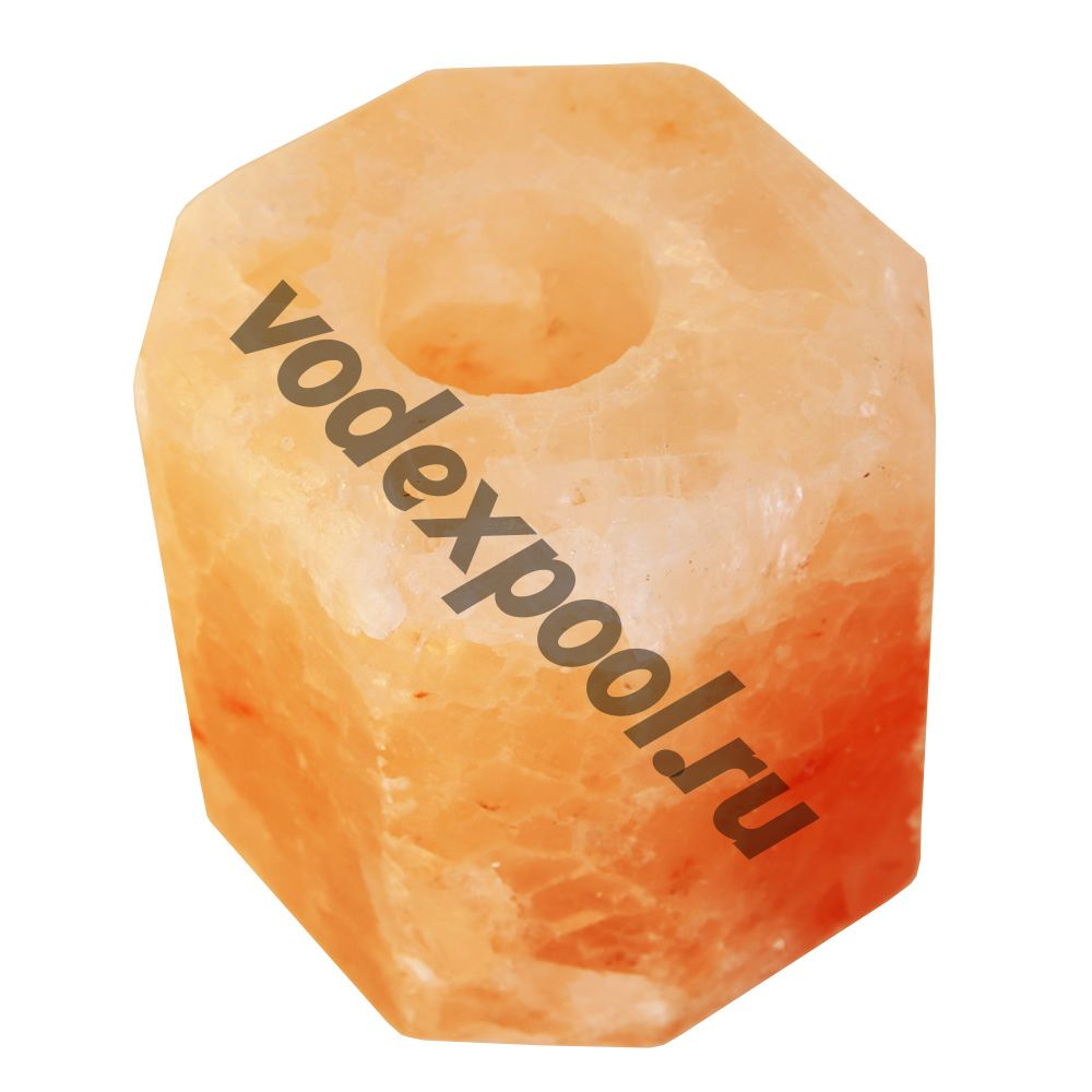 Подсвечник соляной шестигранный