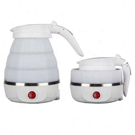 Складной дорожный электрический чайник Collapsible Silicone, 600 мл