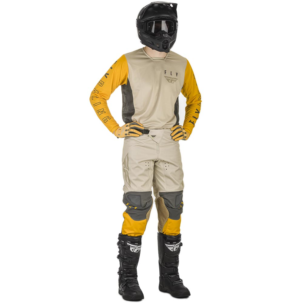 Fly Racing 2021 Kinetic K121 Mustard/Stone/Grey комплект джерси и штаны