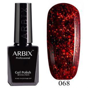 Гель лак  ARBIX № 68  Феникс