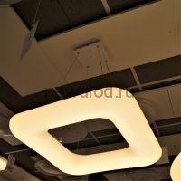 Управляемый подвесной светильник MODERN MD8048-750 КВАДРАТ 80Вт-20м² 5/3/4000К 750*750*1200 Oreol