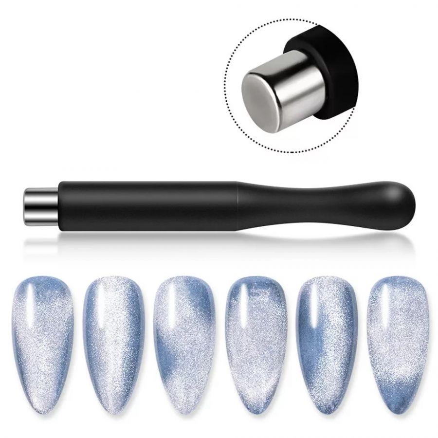 Магнит цилиндр с силиконовой ручкой кошачий глаз