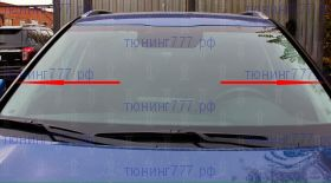 Дефлекторы на водосток лобового стекла