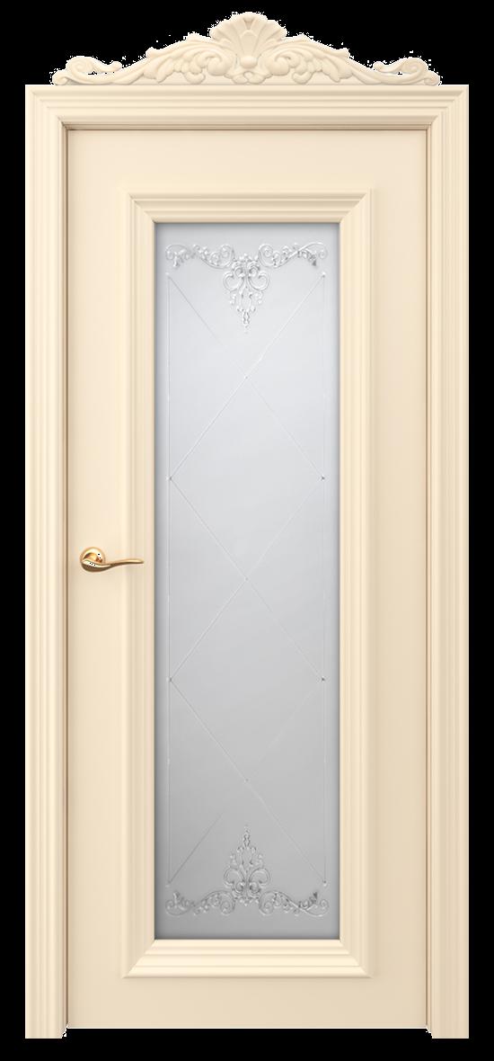 Межкомнатная дверь ЛОНДОН мателюкс с контурным витражом