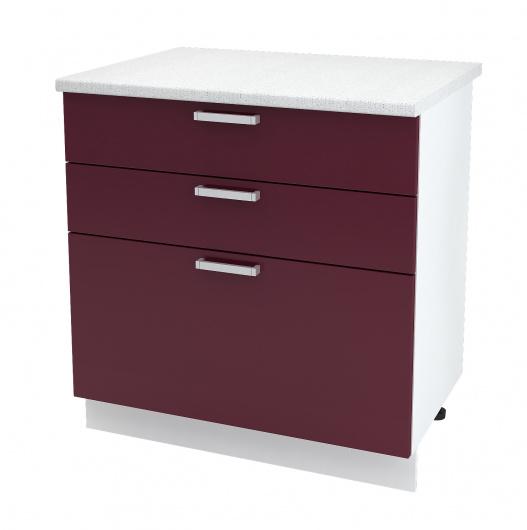 Шкаф нижний с 3 ящиками Джулия ШН3Я 800